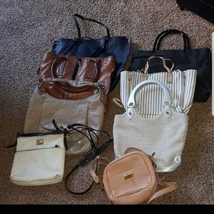 Bundle of 8 handbags need to clean my closet!!